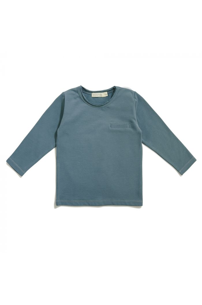 Phil&Phae Pocket tee Balsam Blue