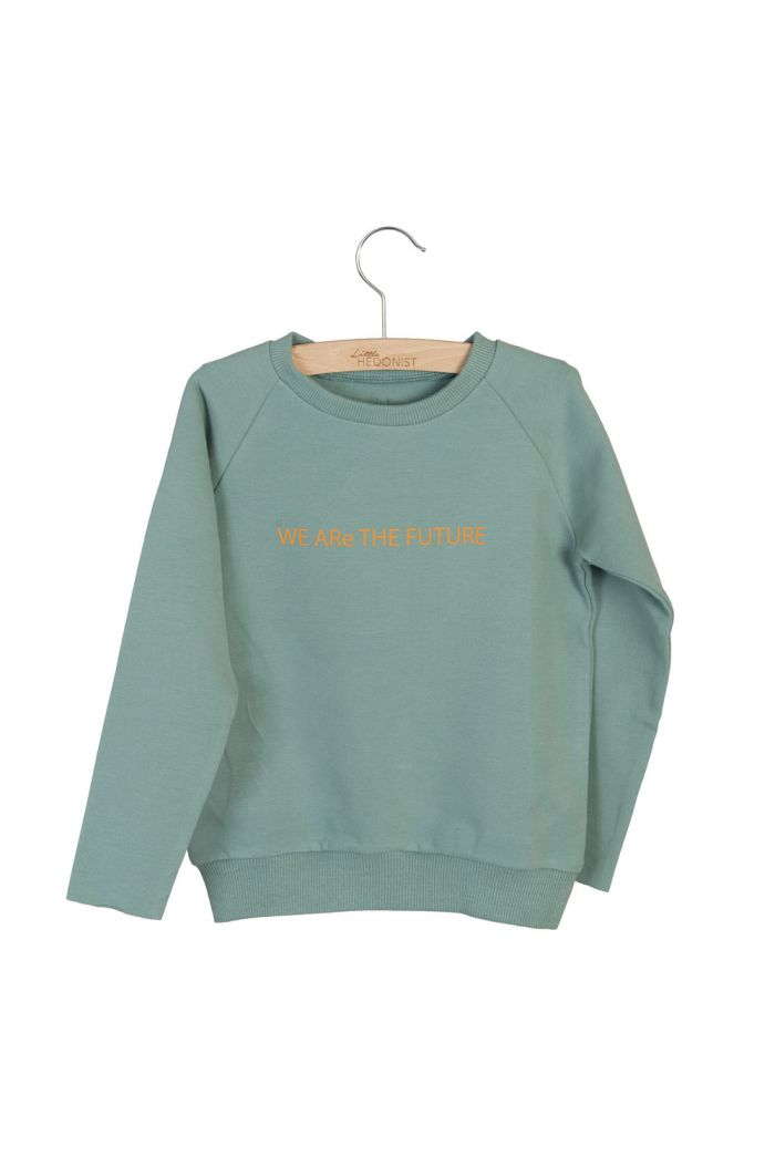 Little Hedonist Sweater Caecilia Print Chinois Green