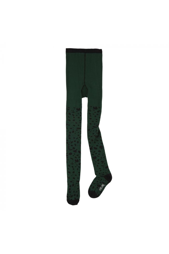 CarlijnQ tights Spotted animal (green)
