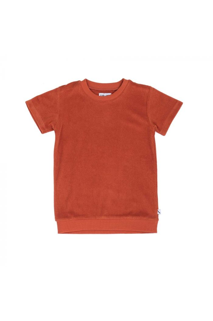 CarlijnQ Basics - sweater short sleeve Cinnamon
