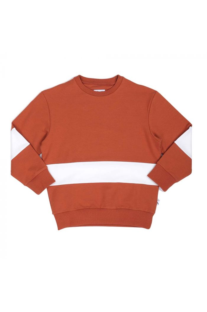 CarlijnQ Basic sweats - sweater stripes Rust + coconut