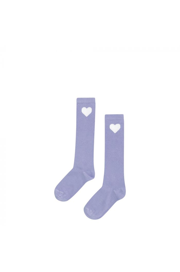 Mingo Kneesocks Lilac heart