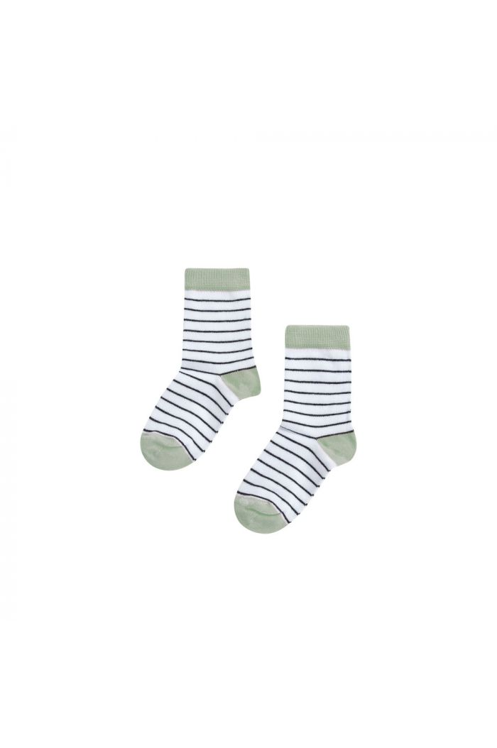 Mingo Socks Mint / black-white stripes
