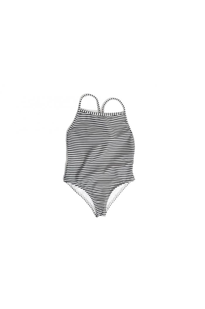 Mingo Bathing Suit Black-White Stripes