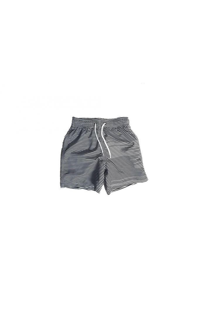 Mingo Swimshorts Black-White Stripes