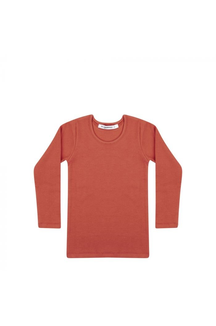 Mingo Rib top jersey Red Wood