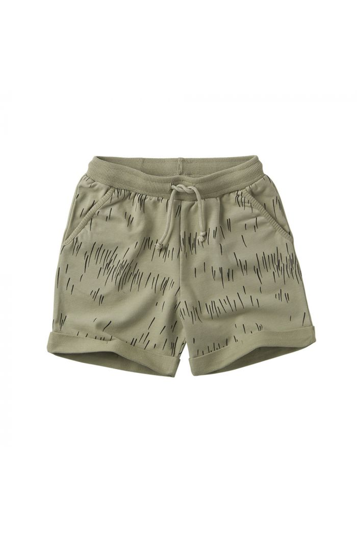 Mingo Short Sweat Grass Print Oak
