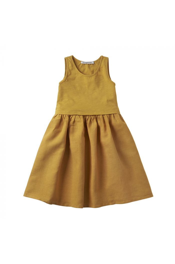 Mingo Sleeveless Dress Spruce Yellow
