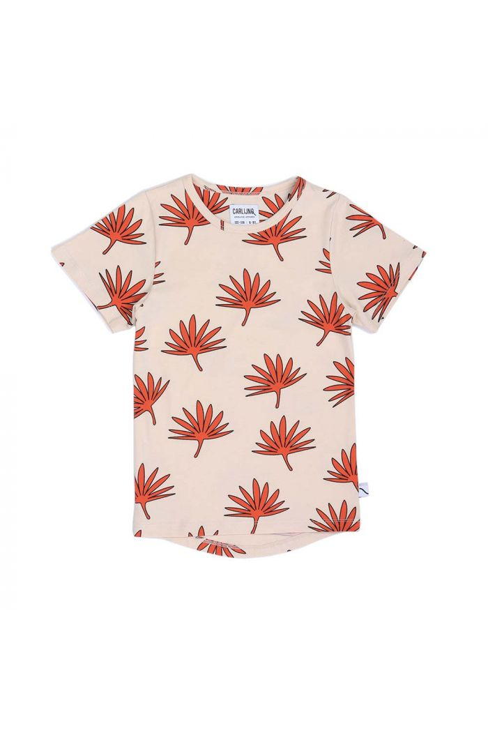 CarlijnQ t-shirt dropback Palm leaf