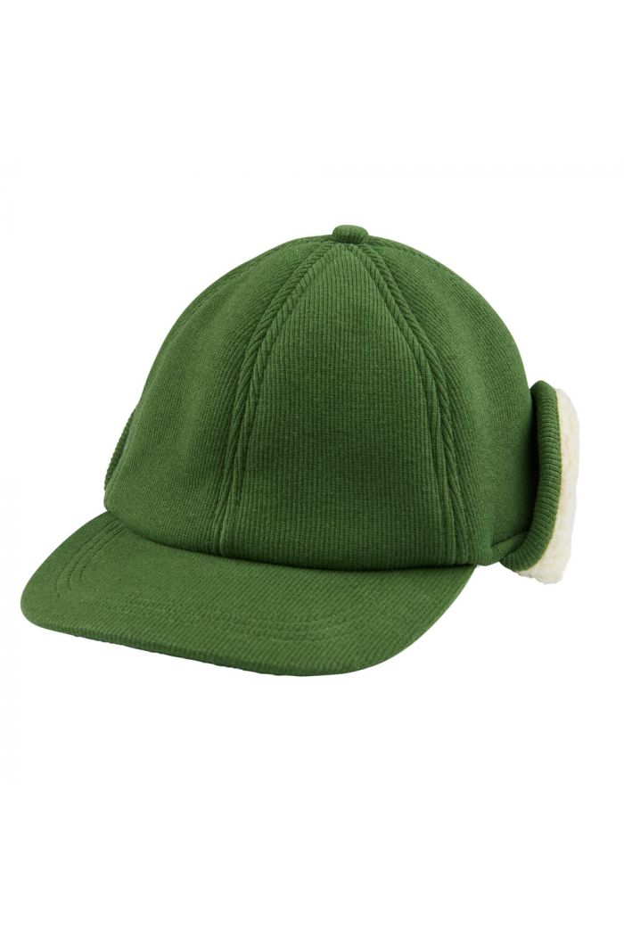 CarlijnQ Caps green (with ears + fake fur)
