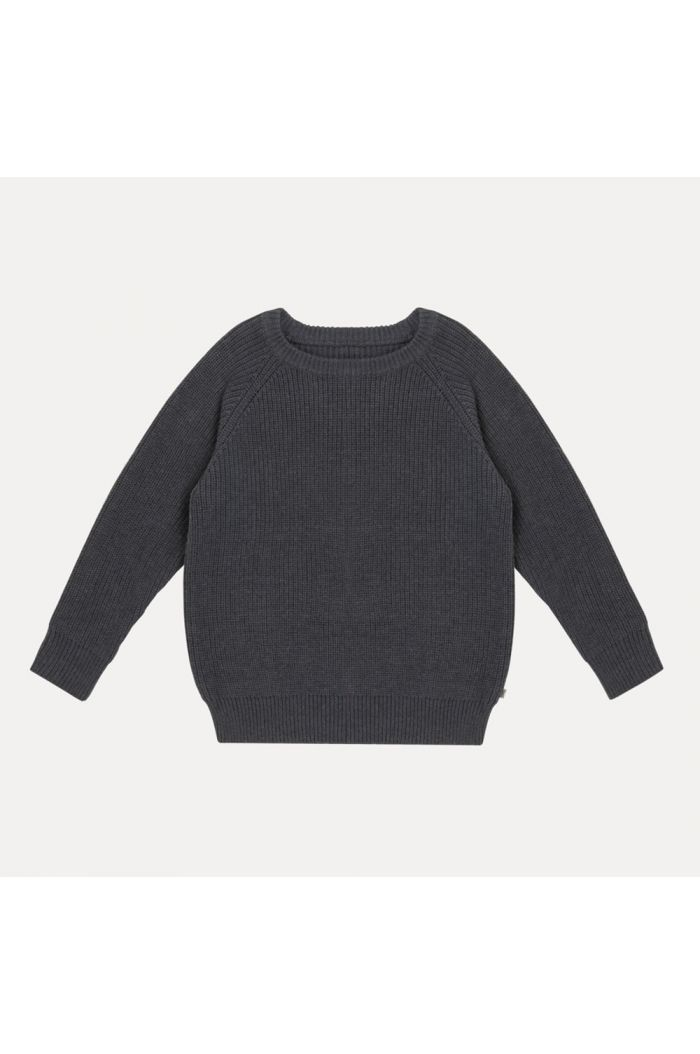 Repose AMS knitted raglan sweater naval blue