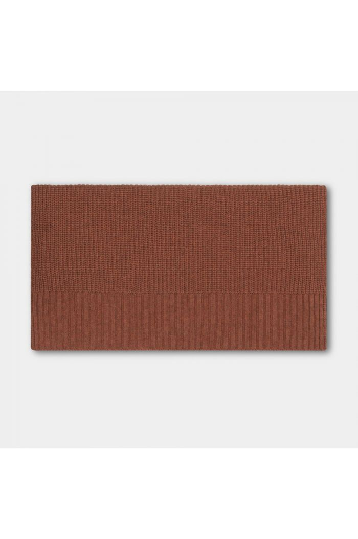 Repose AMS knitted scarf small stone brown