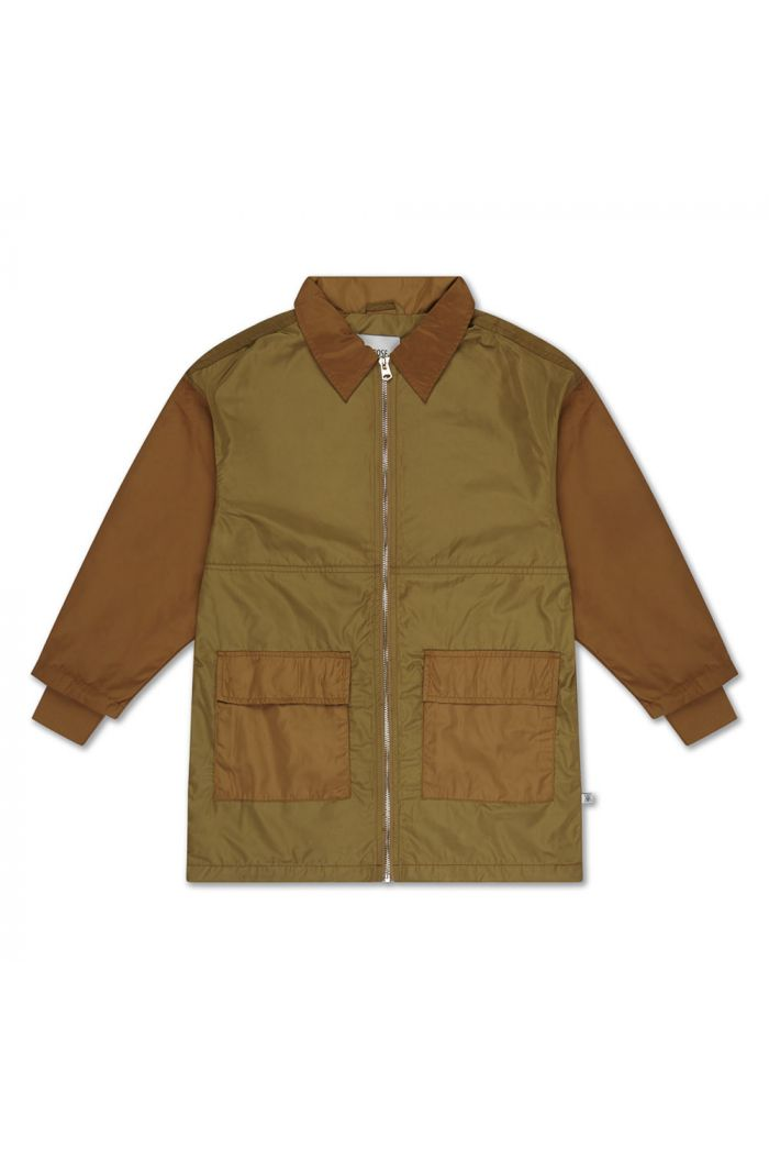 Repose AMS bomber with collar khaki golden block