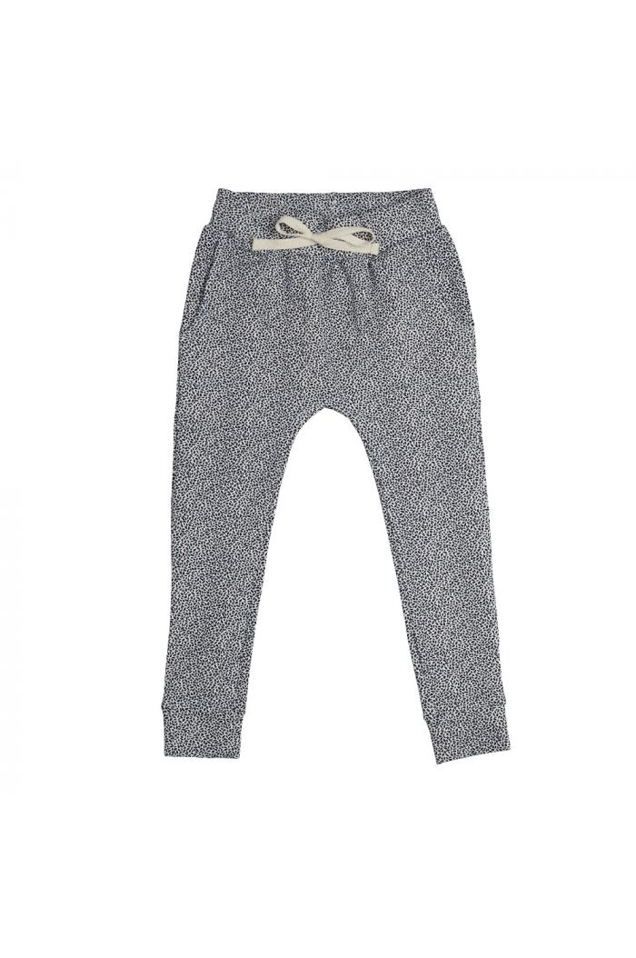 Blossom Kids Joggers Dotted Leaves Midnight Blue