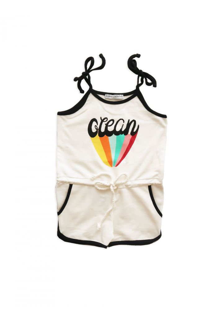 Ammehoela Short Playsuit Ocean Off White