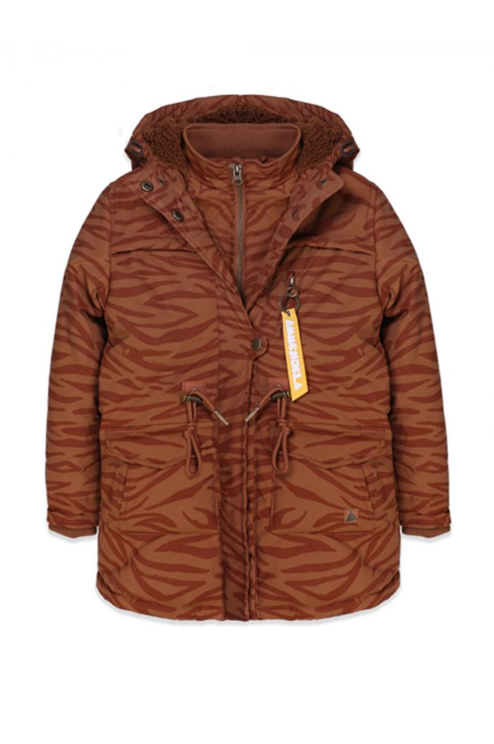 Ammehoela Storm Jacket Brown Tiger