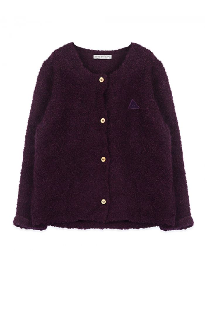 Ammehoela Knittie Cardigan Dark Purple