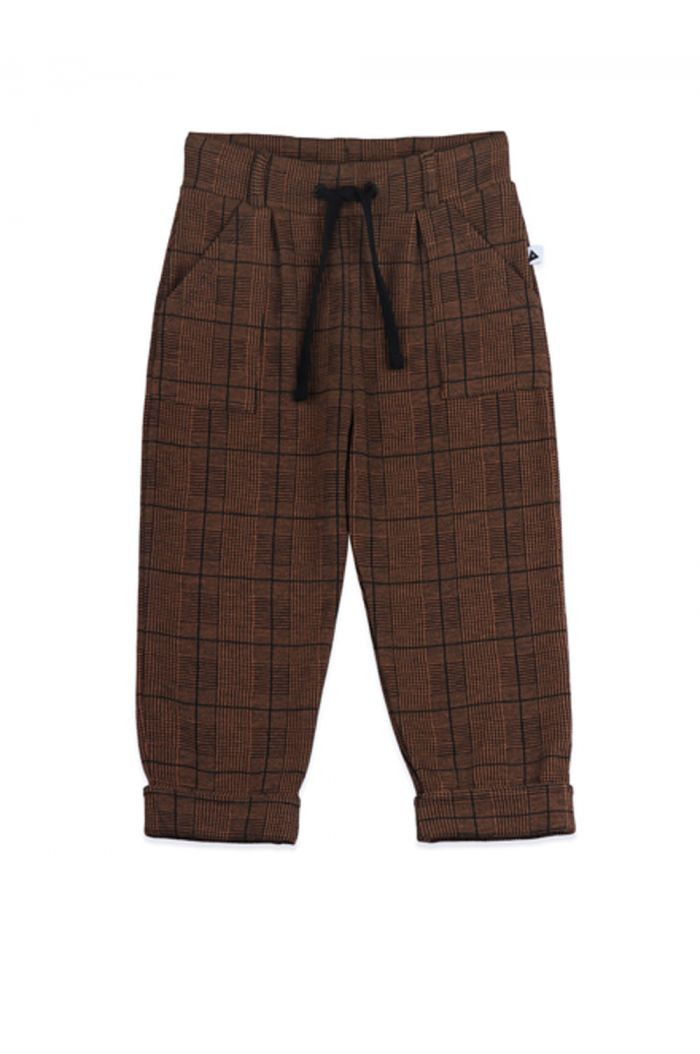 Ammehoela Bennie Pants Brown check