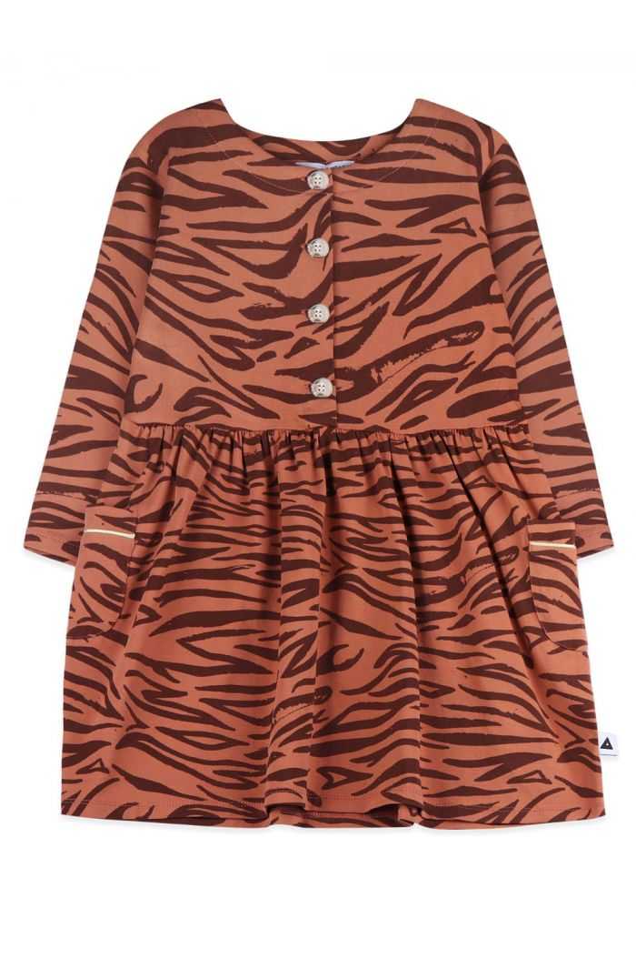 Ammehoela Liesje Dress Tiger brown