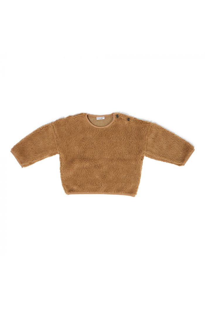 Daily Brat Teddy Oversized Sweater Camel Camel