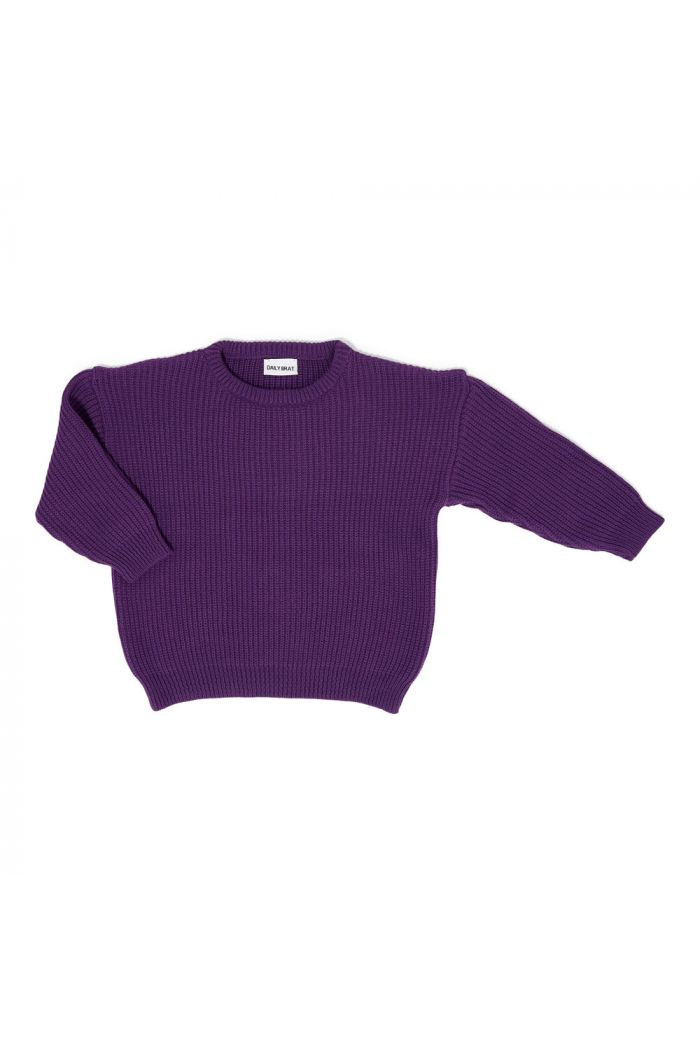 Daily Brat Austin Oversized Knitted Sweater Bright Violet