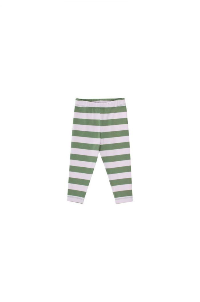 Tinycottons Stripes Pant green wood/light lilac