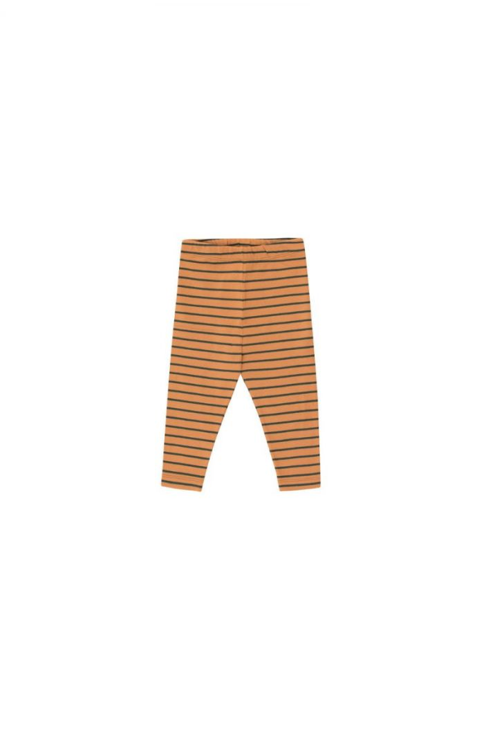 Tinycottons Stripes Pant brown/bottle green