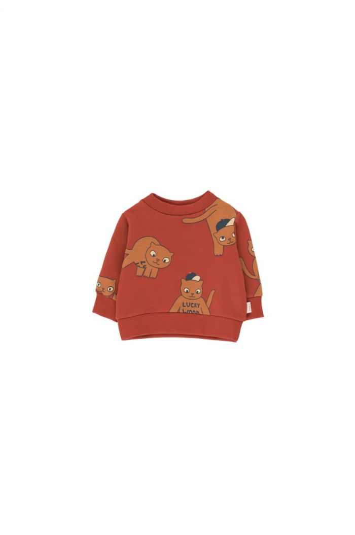 Tinycottons Cats Sweatshirt dark brown/brown