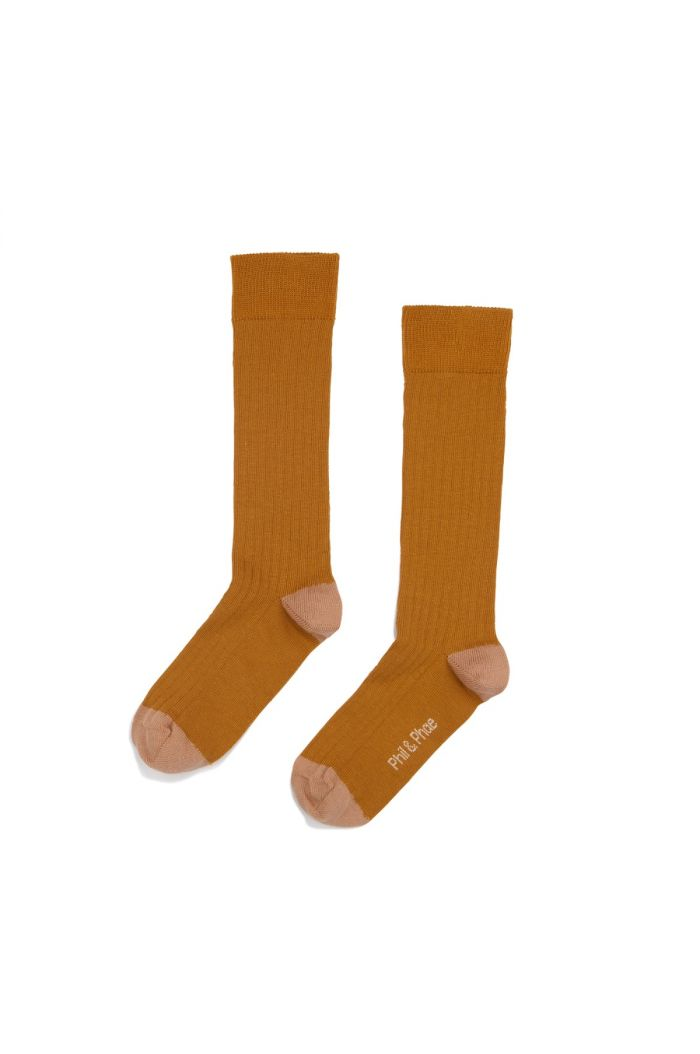 Phil&Phae Ribbed knee socks Gold