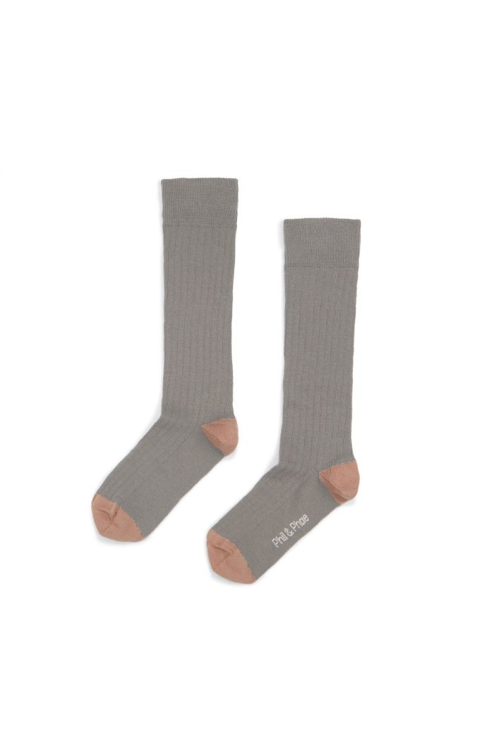 Phil&Phae Ribbed knee socks eucalyptus