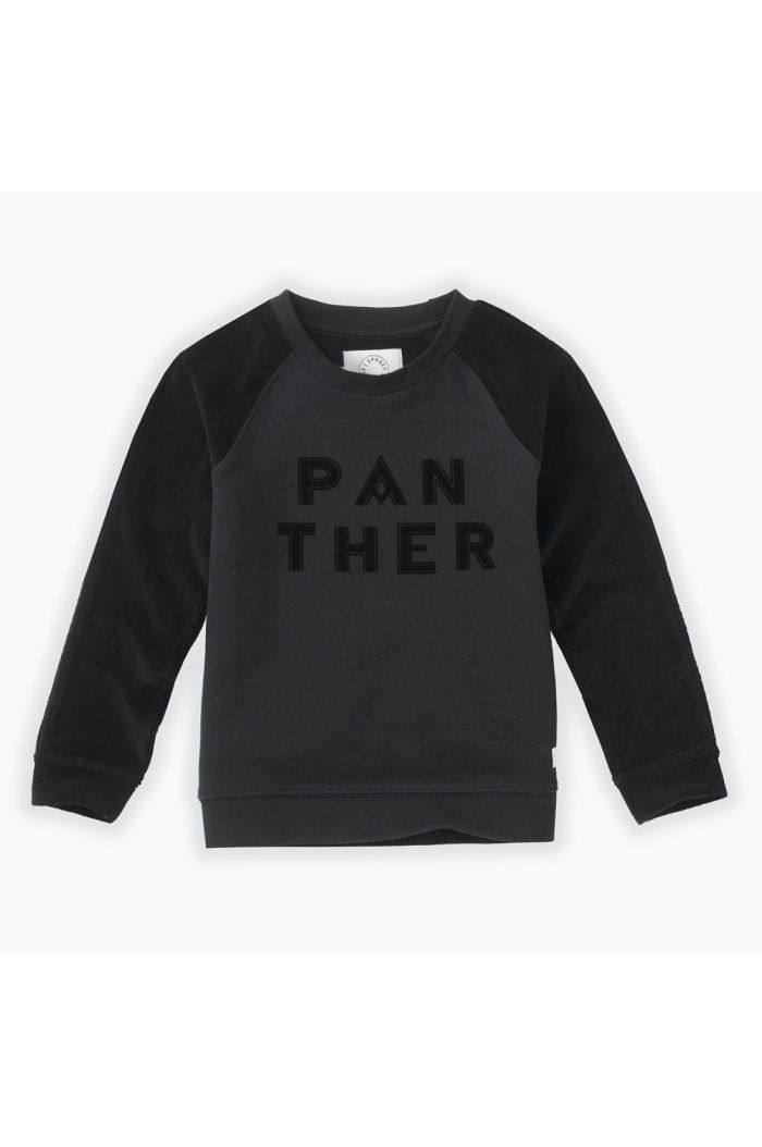 Sproet & Sprout Sweatshirt Panther text Black