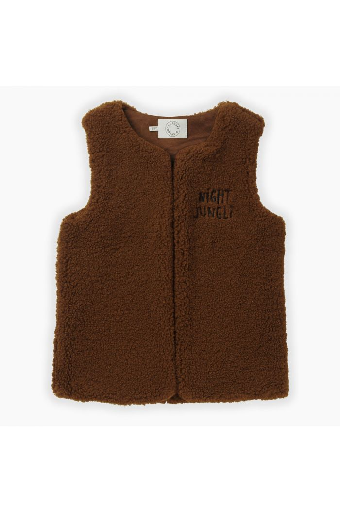 Sproet & Sprout Gilet Terry Mocha