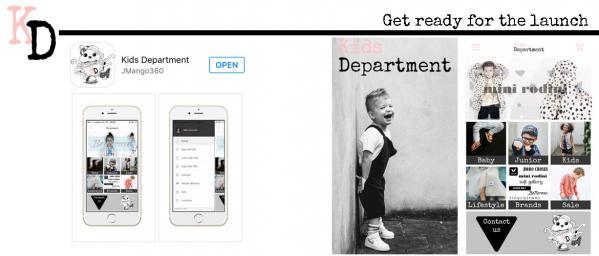 Primeur! Kids Department lanceert allereerste kidsfashion app!